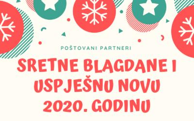 Sretni blagdani i uspješna nova 2020. godina